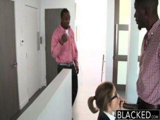 黑色青少年三人行與兩個怪物雞巴