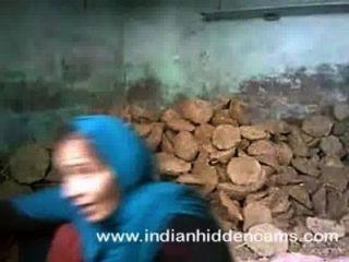 印度夫婦性別他媽的在建造場所在孟買