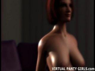 3d動畫主婦欺詐在她的丈夫