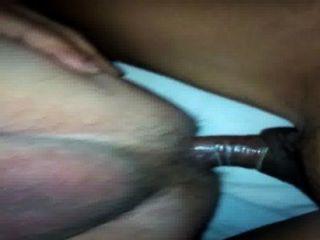 前列腺沒有勃起,與ladyboy的手舔我的屁股