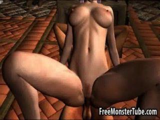 熱3d精靈公主變得舔和性交強壯高2