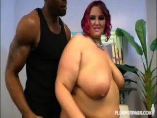 性感加上大小的妻子莎拉星他媽的奇怪的黑人