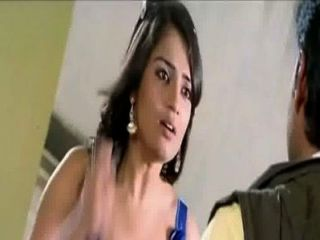 kannada女演員nikitha熱分裂在藍色禮服