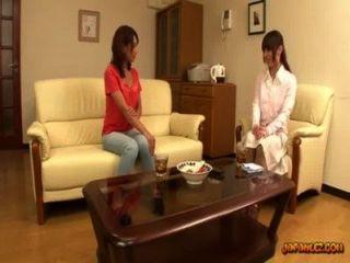亞洲女孩得到她的乳頭吮吸貓在坐在沙發上的摩擦
