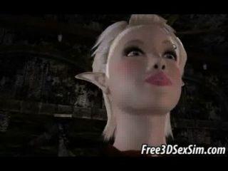 兩個鮮美3d動畫片金發碧眼的女人得到性交