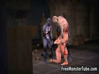 熱的3d寶貝越來越難被三個殭屍