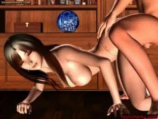 華麗動畫與圓的胸部得到了xanime4u.com