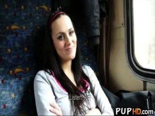 他媽的女孩在火車上為現金mea melone 4