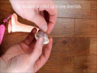 如何穿上安全套視頻如何把一個避孕套如何避孕套