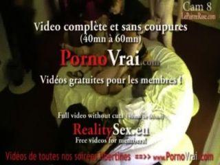 間諜凸輪在法國私人聚會!相機espion en soiree privee。