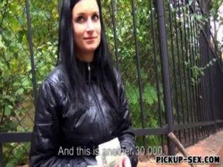 真正的業餘捷克蕩婦羅莎琳達金錢