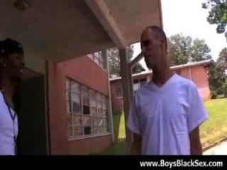 性感的黑色同性戀男孩他媽的白色年輕的dudes鐵桿20