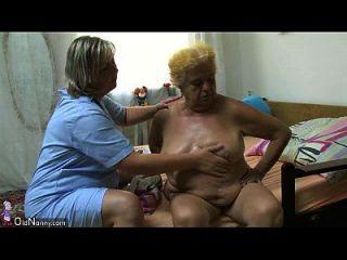 oldnanny胖大奶奶和年轻人有性关系