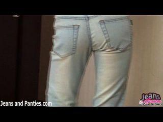 米拉纳挤压紧身紧身牛仔裤