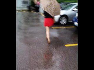 热的亚洲人在一个迷你裙pt 1