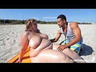 亚马逊ssbbw erin绿色他妈的在海滩的粉丝