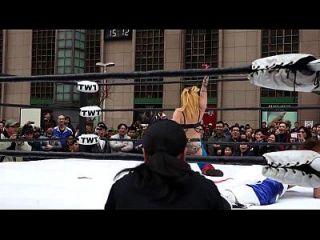 2013.1.27ntw新台湾娱乐摔角联盟斗鱼vs苹果miyukiアップルみゆき(大阪职摔)