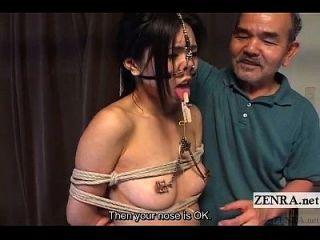 极端日本bdsm与鼻钩和夹子字幕