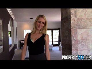 propertysex超级好妻子的骗子她的丈夫与房地产代理