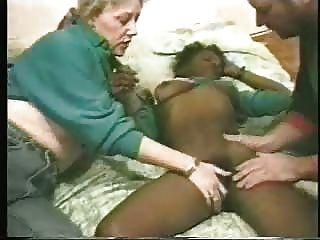 變態夫婦支付年輕黑人妓女。自製