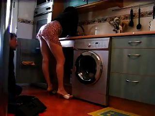 孤獨的家庭主婦閃爍水管工