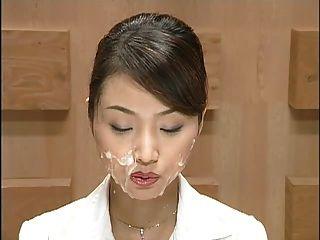 日本新聞與cumshots。場景1