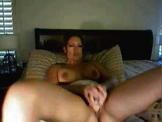 性感的拉提納在網絡攝像頭展示