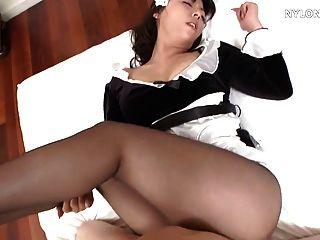 日本連褲襪女傭性尼龍他媽的