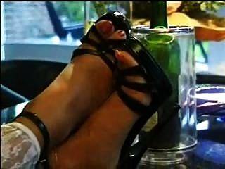 黑色平台高跟鞋