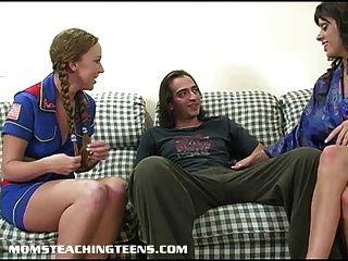 媽媽教青少年如何吸和他媽的