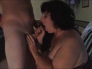 脂肪妻子吸掉陌生人