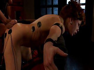 紅頭髮被殘酷地觸電,酷刑和性交(jltt)
