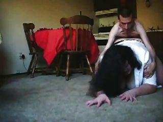 瘦的人他媽的胖bbw前女友在地板上