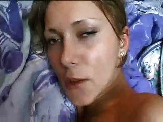 自製的性膠帶女孩與大胸部