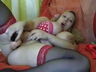 bbw頭髮金發與大山雀他媽的她的陰部
