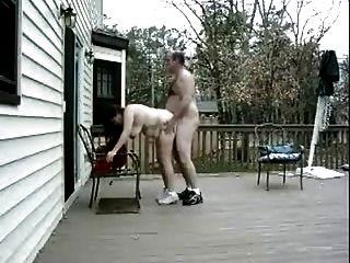 老夫婦他媽的室外