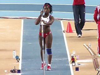 yarisley silva:性感的屁股古巴奧林匹克撐桿跳馬
