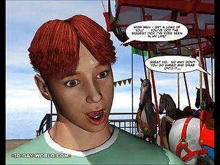 查理在嘉年華:3d同性戀卡通動漫無盡漫畫