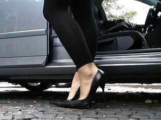 極致皮革高跟鞋高跟鞋