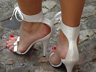 白色高跟鞋涼鞋