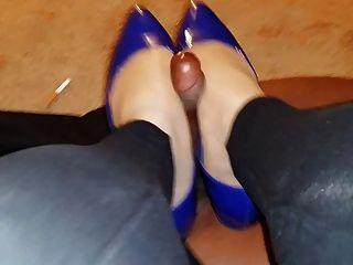 連褲襪和平底鞋bbc footjob shoejob長版