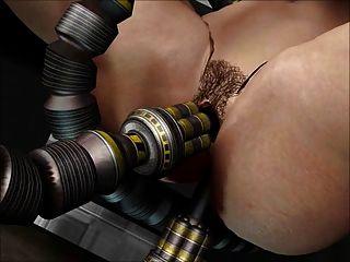 3d動畫:性機器人