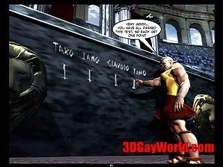同性戀奧林匹克遊戲滑稽3d同性戀卡通動漫3d漫畫笑話