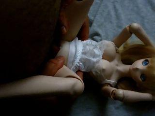 金發可愛的動漫dollfie onahole娃娃他媽的