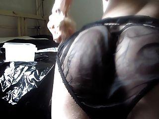 dildofun黑色緞&尼龍內褲