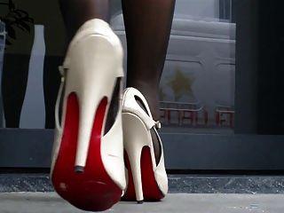 高跟鞋涼鞋和尼龍腳2