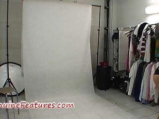 後台拍攝的熱乳膠裙