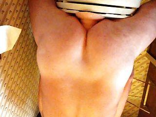gaped混蛋屁股舒展帶上脫垂的肛門拳