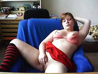 顯示她的屁股在網絡攝像頭的女孩
