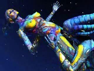 浮動空間外星人在空間關閉它